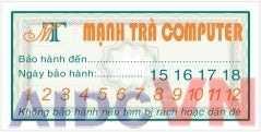 Mẫu in tem bảo hành tại Hà Nội