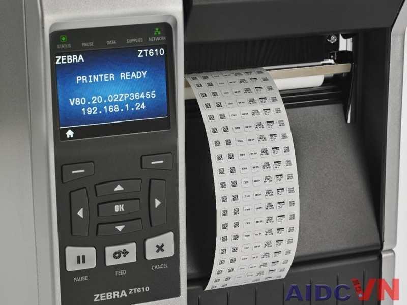Máy in mã vạch RFID Zebra ZT600
