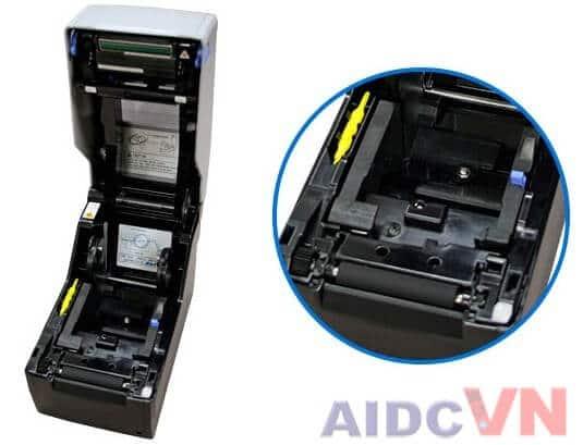Bên trong của máy in mã vạch SATO CG212 300dpi