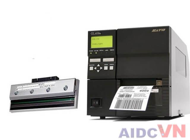 Máy in mã vạch SATO GL412e và đầu in mã vạch