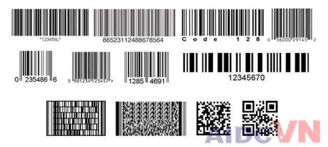 Các loại mã vạch thường dùng