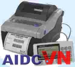 Máy in mã vạch Sato CG 408 khi kết hợp với bàn phím