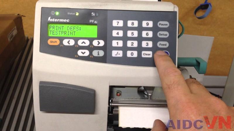 Máy in tem nhãn mã vạch Intermec PF4i