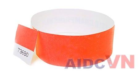 Mẫu vòng đeo tay y tế Tyvek màu đỏ
