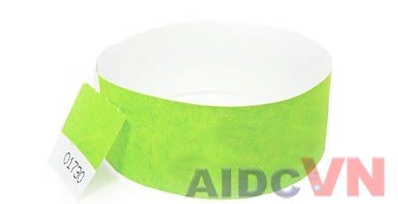 Mẫu vòng đeo tay y tế Tyvek màu xanh
