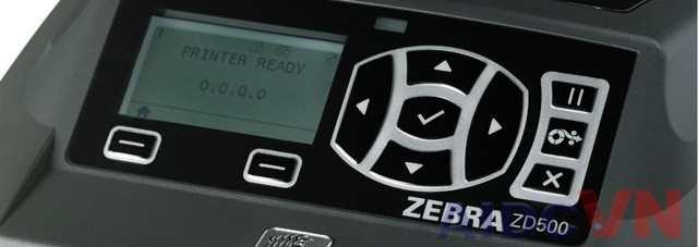 Máy in mã vạch Zebra ZD500 có mà hình trực quan
