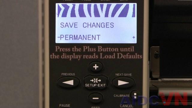 Hướng dẫn Reset mặc định máy in mã vạch Zebra ZM600
