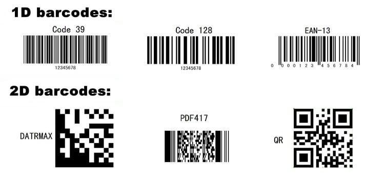 Mã vạch 1D và mã vạch 2D