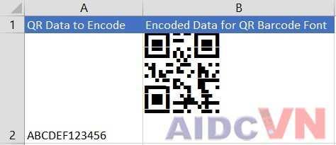 Phông chữ mã vạch 2D thường sử dụng
