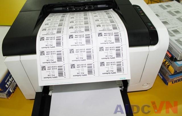 Hướng dẫn tạo mẫu tem decal in trên giấy TOMY A4