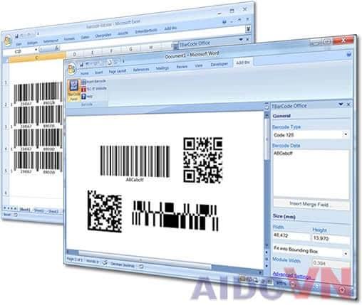 In tem mã vạch bằng phần mềm Excel