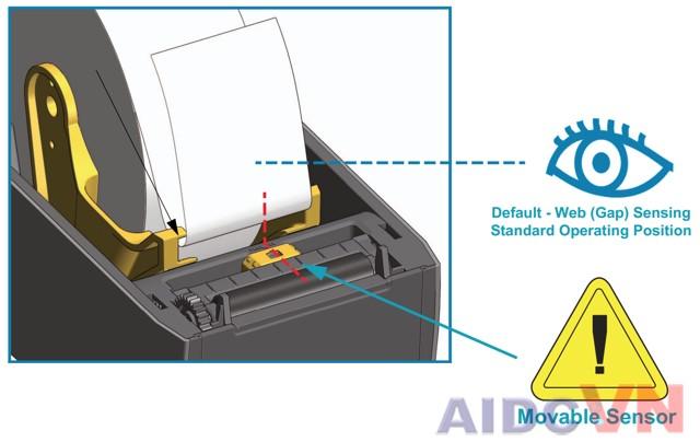 Bước 2 - Lắp đặt giấy vào máy in mã vạch Zebra ZD410
