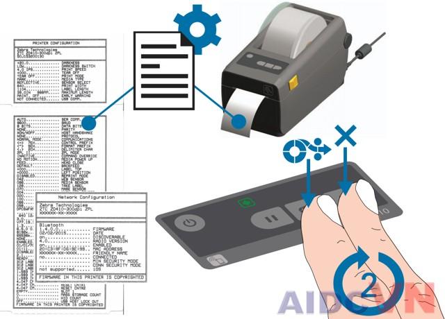 In thông tin của máy in Zebra ZD410
