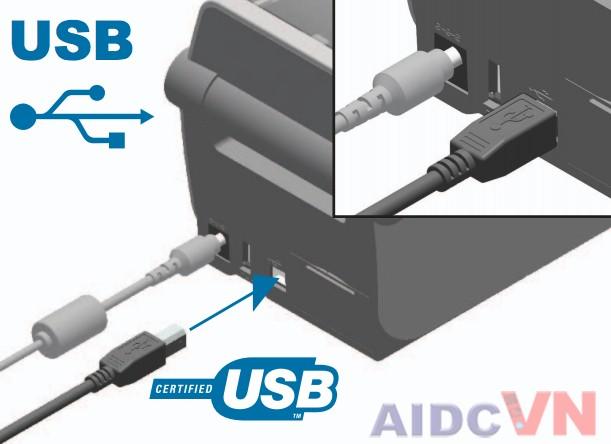 Kết nối máy in mã vạch Zebra ZD410 với máy tính MAC