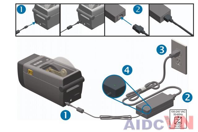 Kết nối máy in mã vạch Zebra ZD410 vào máy tính