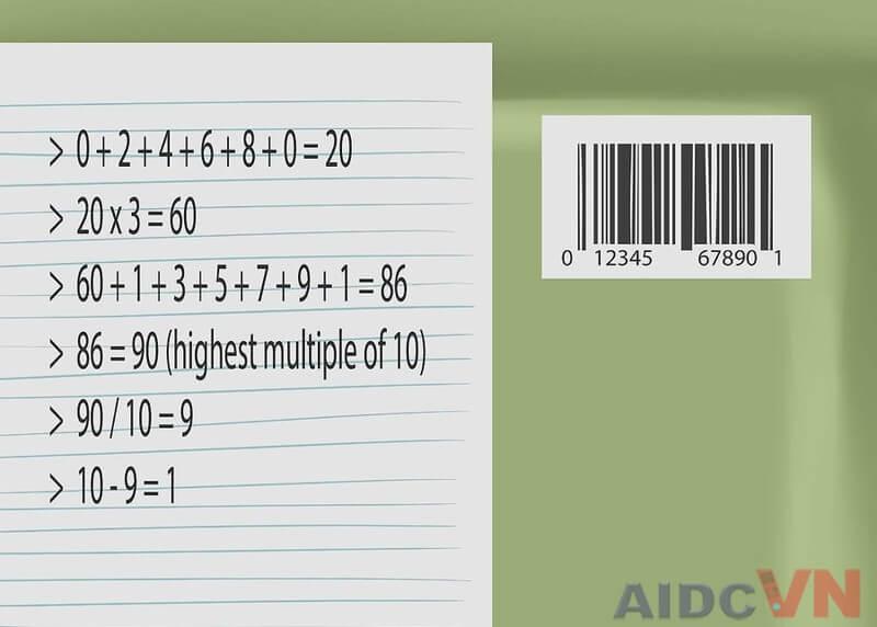 Hướng dẫn đọc mã vạch UPC Bước 5