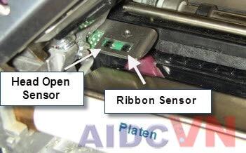 Cảm biến của máy in mã vạch Zebra - Lỗi cuộn mực Ribbon