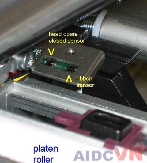 Che cảm biến máy in mã vạch bằng tấm che
