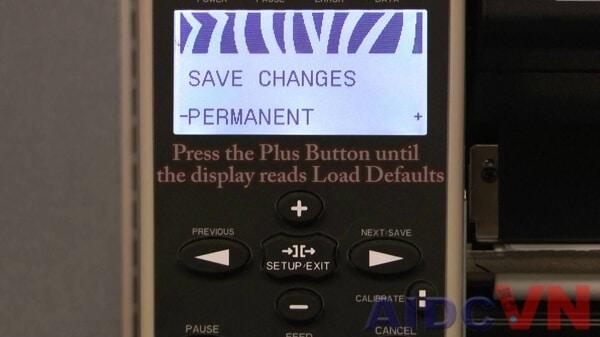 Khôi phục cài đặt gốc cho máy in mã vạch Zebra 110Xi4