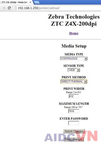 Máy in mã vạch bị lỗi khoảng cách khổ giấy