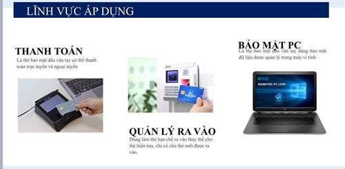 Ứng dụng của thẻ bảo mật vân tay cho ngân hàng