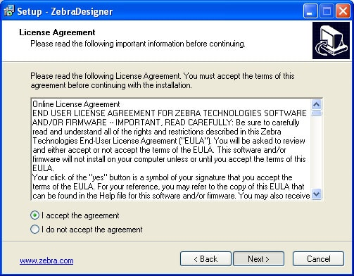 Cài đặt ZebraDesigner và driver máy in mã vạch Zebra