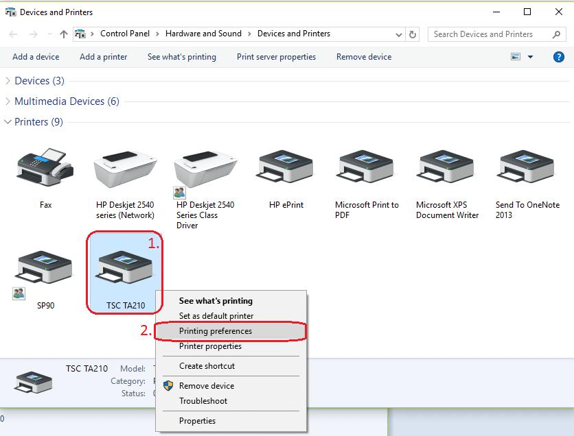 Cách cài đặt máy in mã vạch