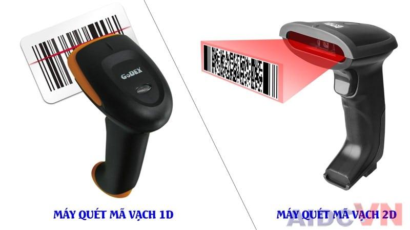 So sánh máy quét mã vạch 1D và 2DSo sánh máy quét mã vạch 1D và 2D