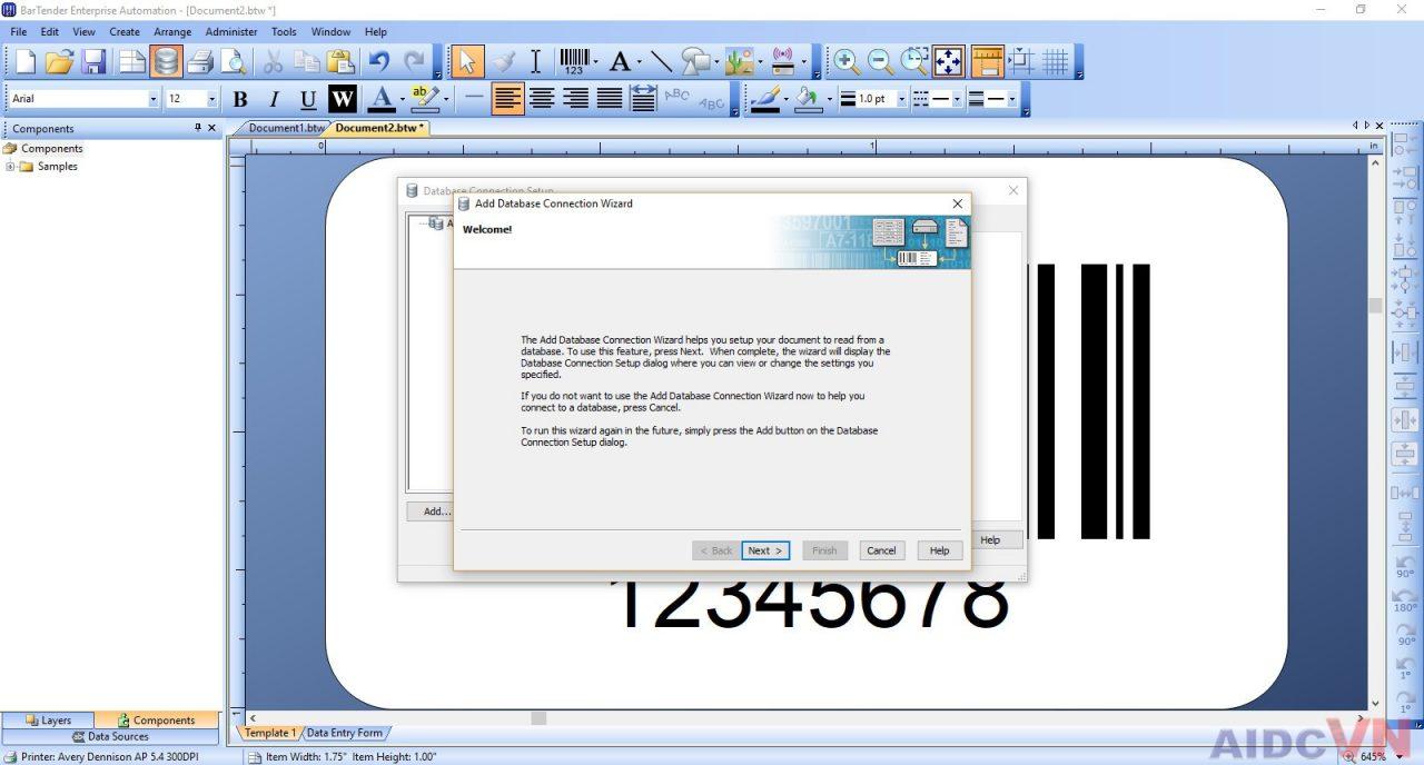 Hướng dẫn kết nối Excel với Bartender