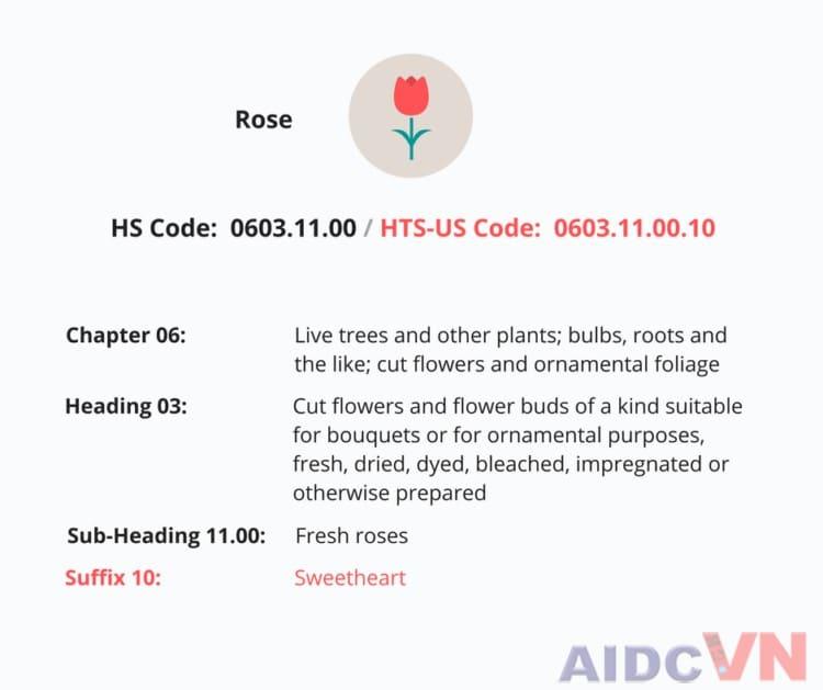 Ví dụ về mã vạch HS