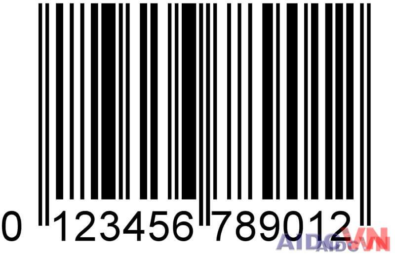 Ví dụ về mã vạch UPC