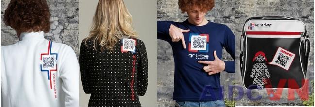 Ứng dụng mã vạch QR code trên quần áo