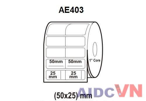 Giấy in mã vạch 50x25 mm