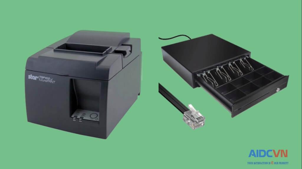 Cách kết nối két đựng tiền với máy tính và máy in hóa đơn