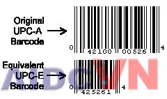 Mã UPC-A và mã UPC-E