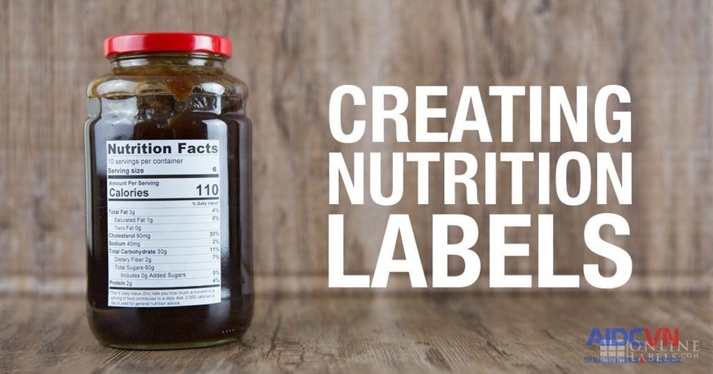 Tạo nhãn dinh dưỡng cho sản phẩm của bạn