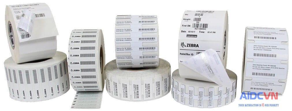 Giấy in mã vạch RFID cho Zebra ZD500R