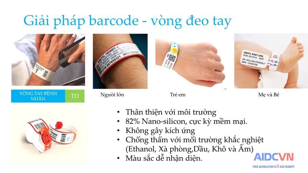 Giải pháp vòng đeo tay y tế in mã vạch của Brother