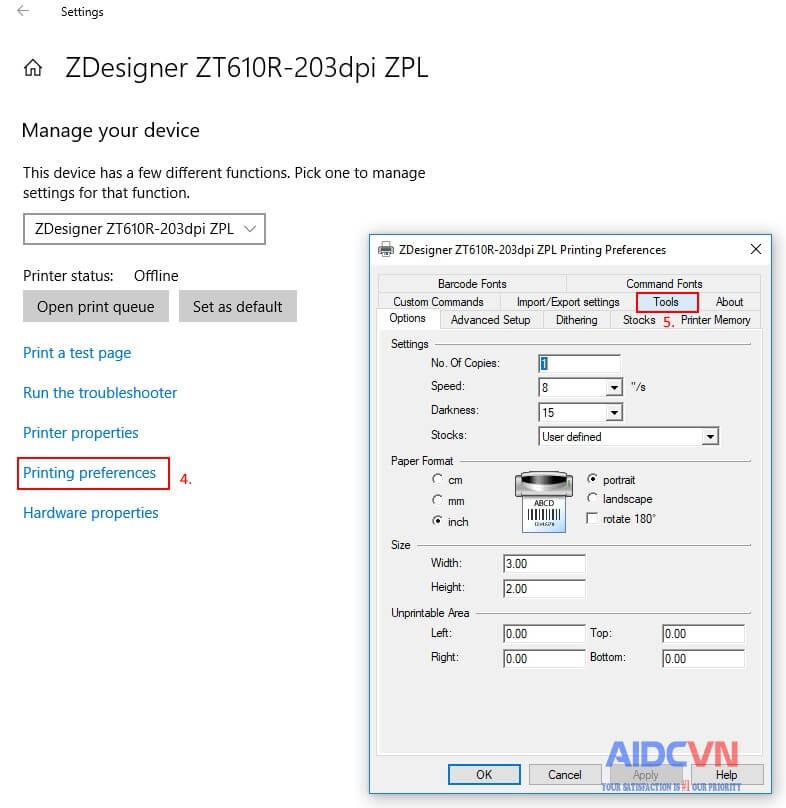 Gửi lệnh .ZPL tới máy in mã vạch của Zebra bước 5